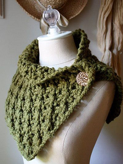 Knitting Pattern For Asterisque Cowl Neck Warmer In Super Bulky Yarn