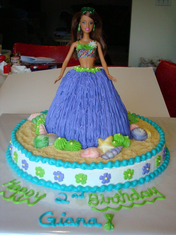 Hula girl childrens birthday cakes barbie doll cakes