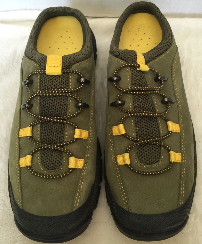 a73447d1bb1f3 Cole Haan Nike Air Water Proof Leather Hiking Walking Mules Shoes Size 8 |  eBay