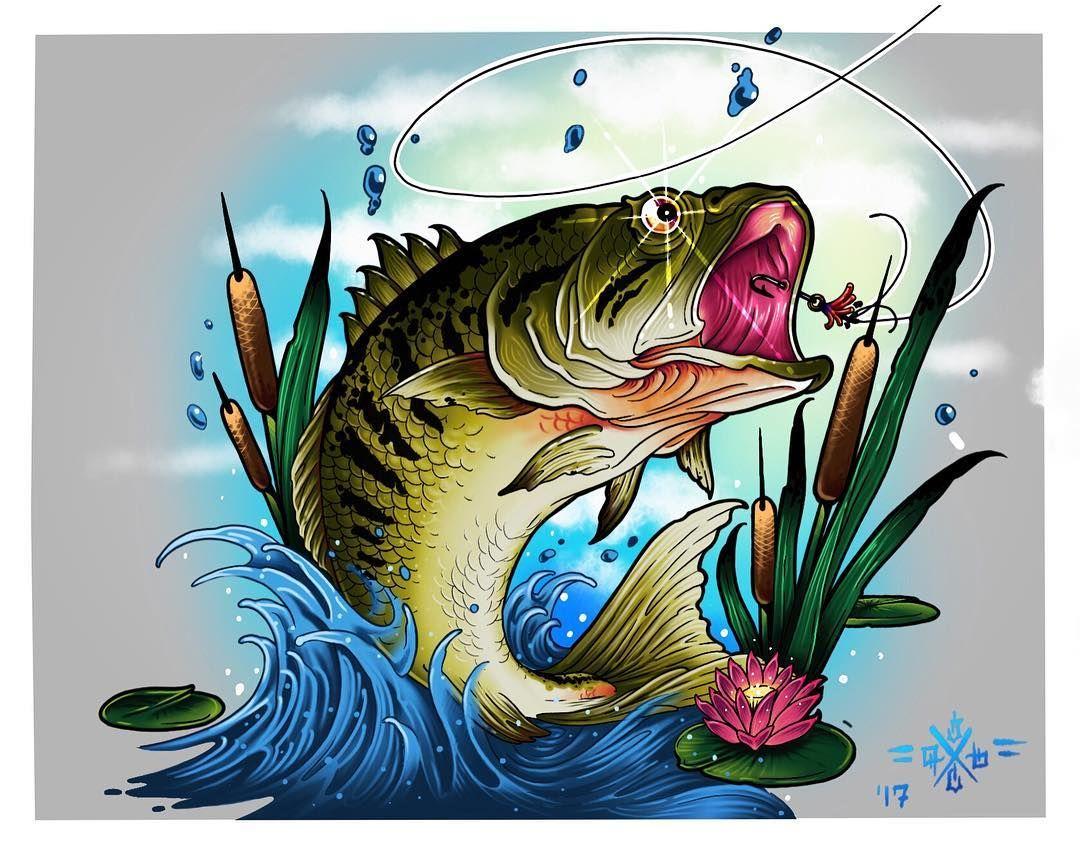 Открытка рыбак с рыбкой прикольная, рисованные