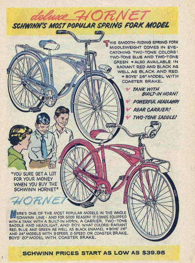 1959 | Bicycles | Vintage bikes, Vintage advertisements