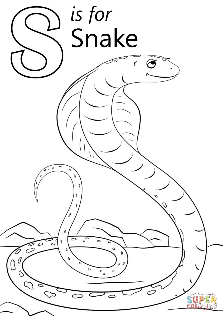Letter S Is For Snake Super Coloring Snake Coloring Pages Abc Coloring Pages Star Coloring Pages [ 1200 x 849 Pixel ]