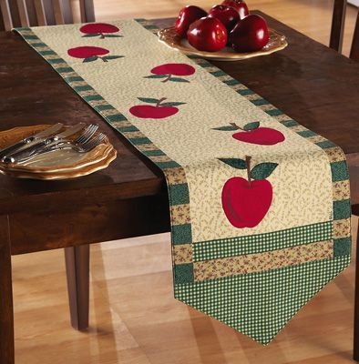 Red Apple Country Patchwork Table Runner From Collections Etc.