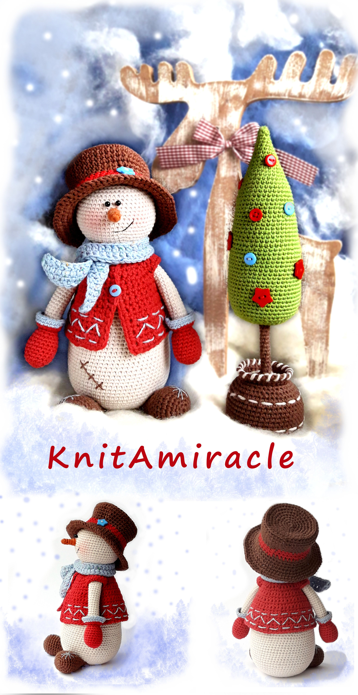 Christmas gingerbread man crochet pattern | Patrones amigurumi ... | 6000x3096