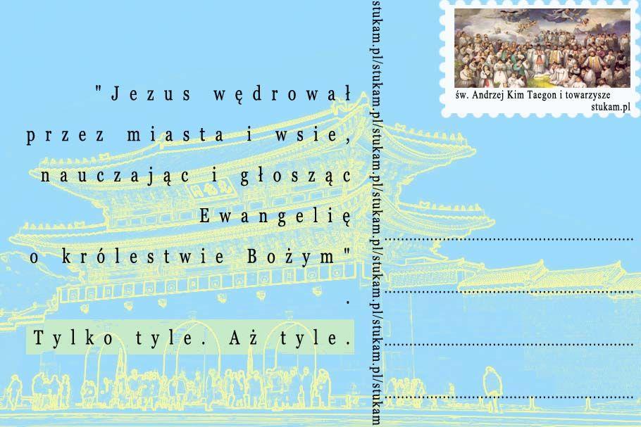 """""""Jezus wędrował przez miasta i wsie, nauczając i głosząc Ewangelię o królestwie Bożym"""". Tylko tyle. Aż tyle."""