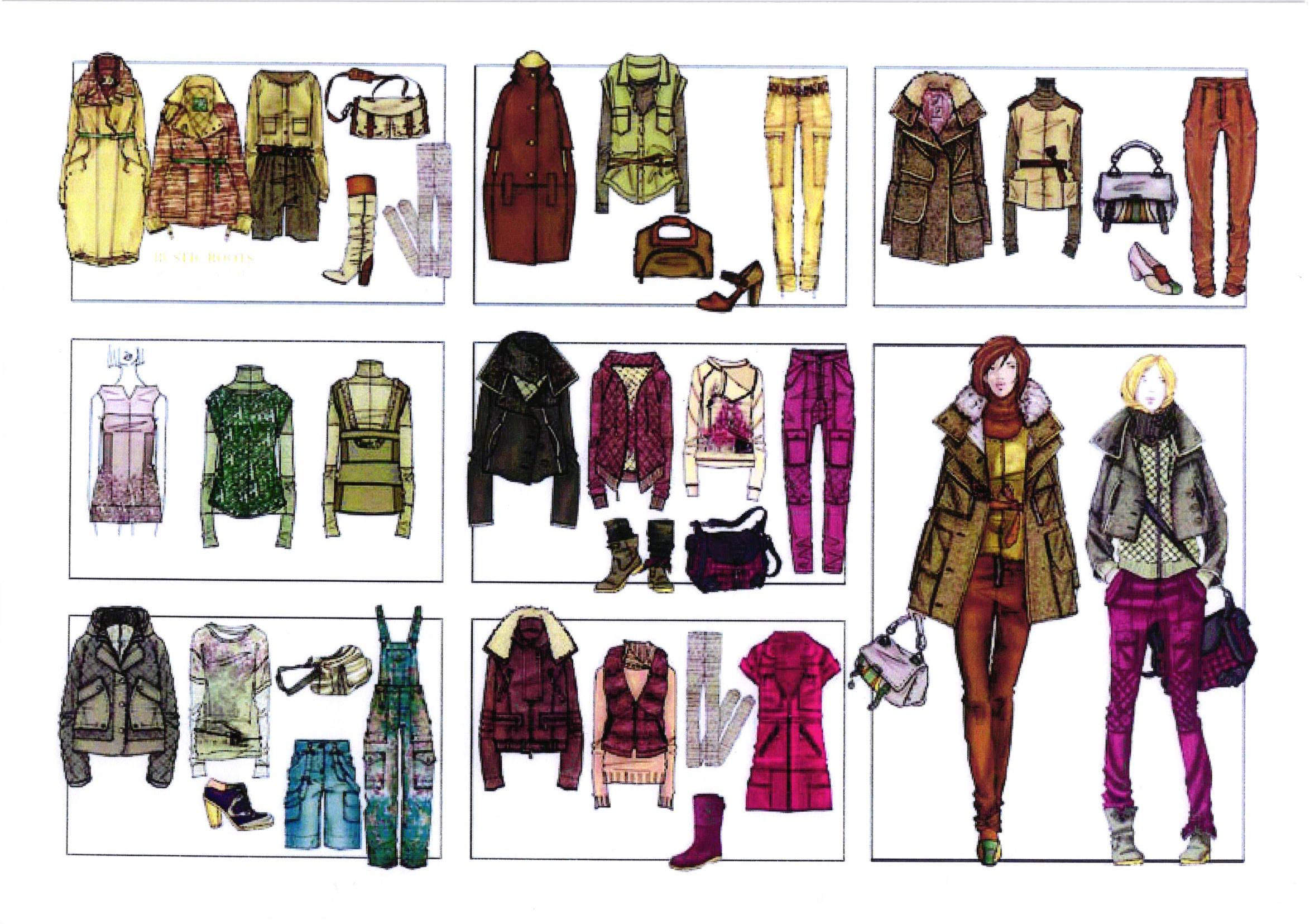 Technical drawing clothes