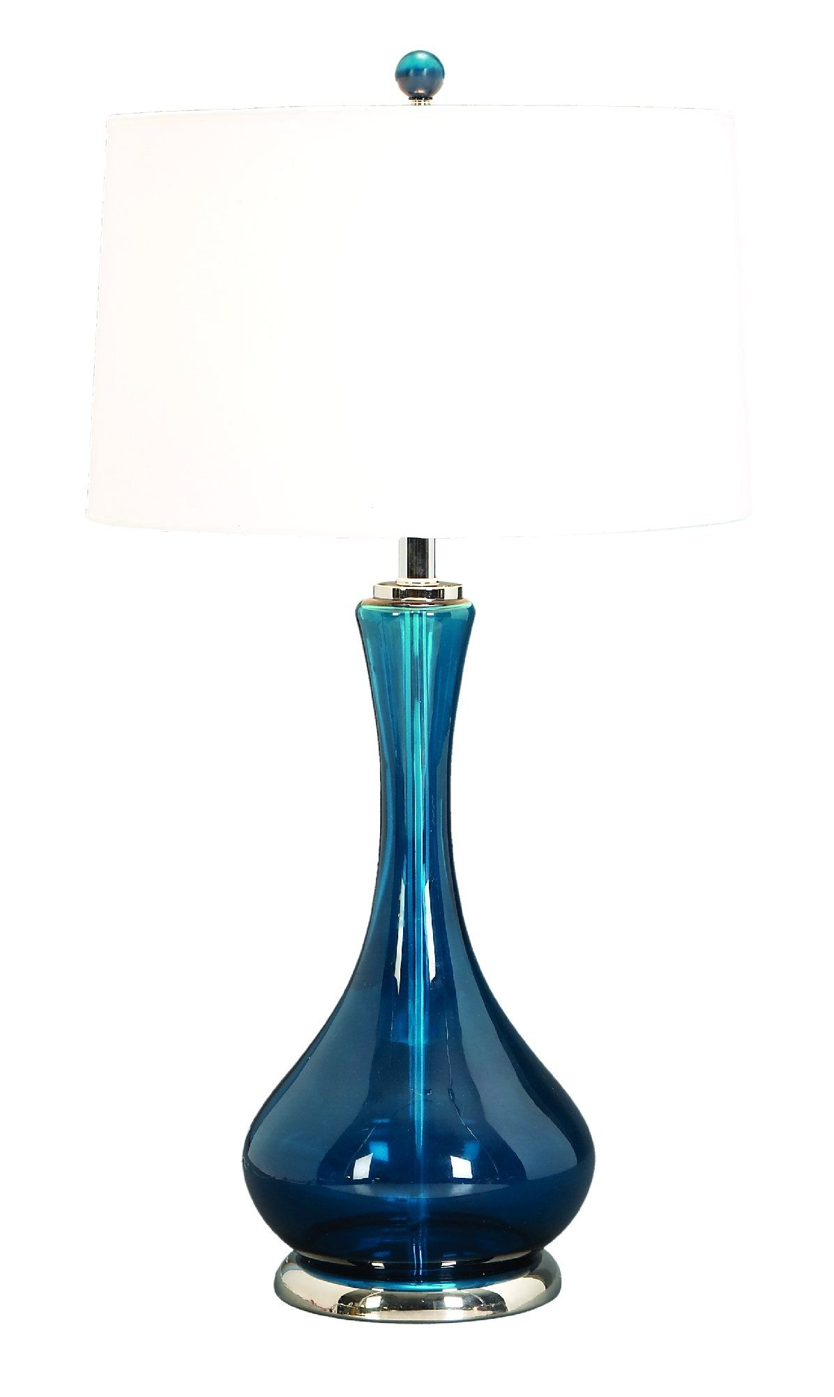 Glass Table Lamp A Living Style Statement (One Lamp) by Benzara - Lamps For Living Room - Amazon.com