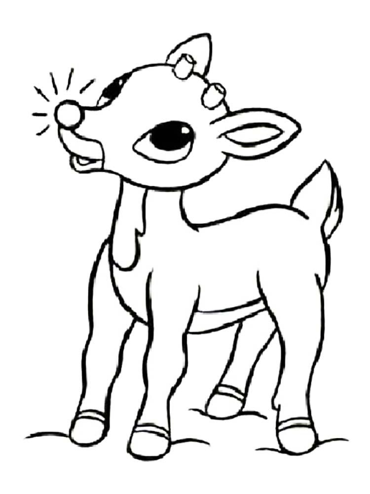 Reindeer Coloring Pages To Print. Reindeer are animals ...