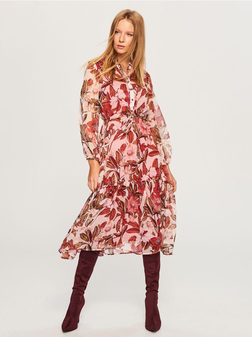 6d717fde Sukienka w kwiaty - wielobarwny - VQ870-MLC - RESERVED | moda w 2019 ...