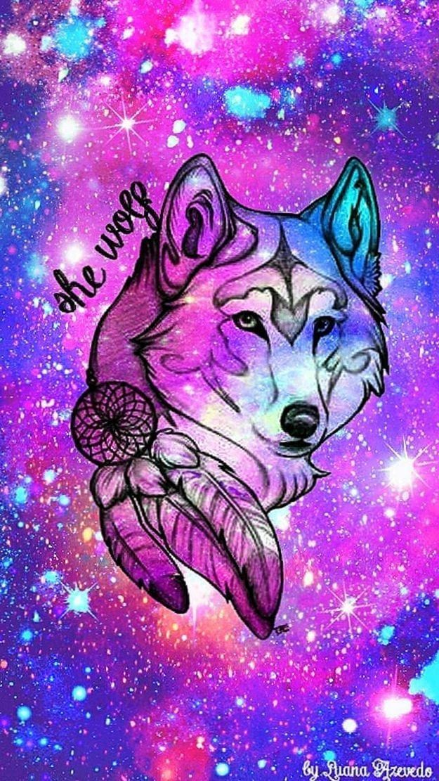 Cute Wolf Wallpapers Wolf Wallpaper Galaxy Wolf Drawings Pinterest