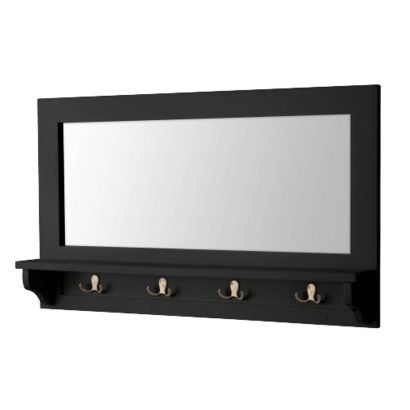 Target Entry Mirror With Hooks Black