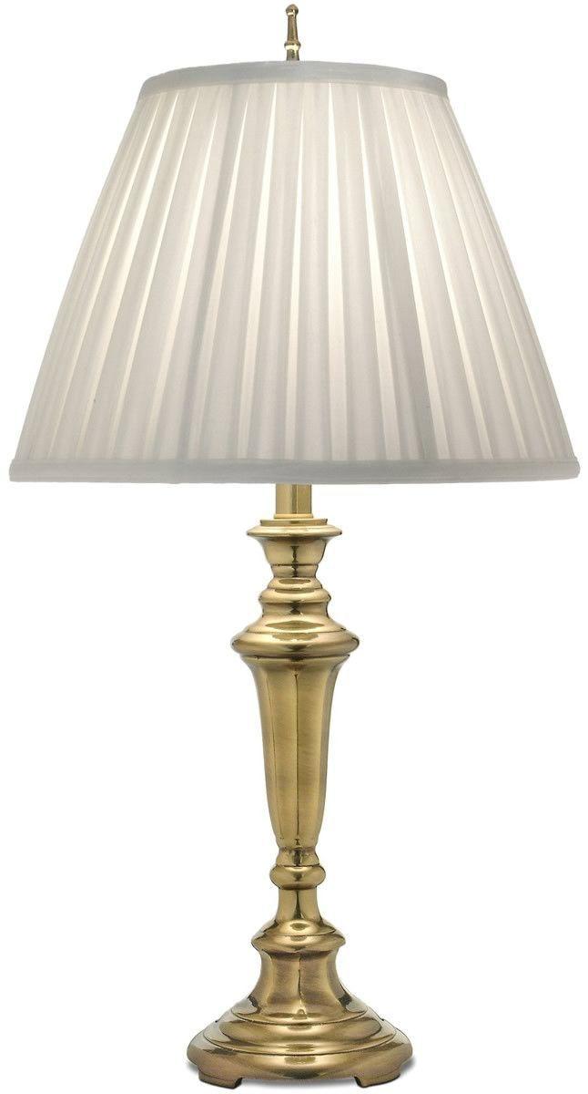 0 000072 Genuine Stiffel 3 Way Table Lamp Burnished Brass Abajur