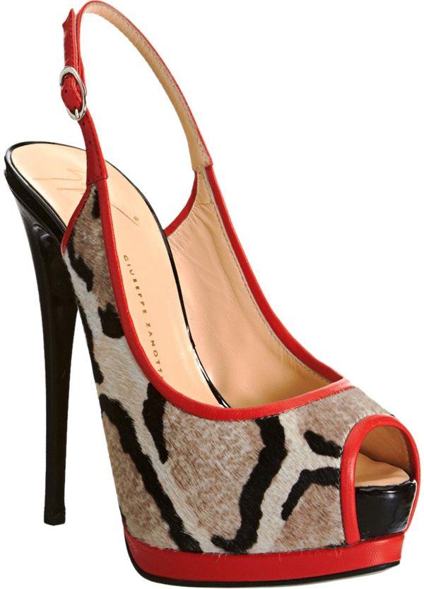 978d0fb76bd Coco in Animal Print Giuseppe Zanotti Slingback Platform Sandals ...