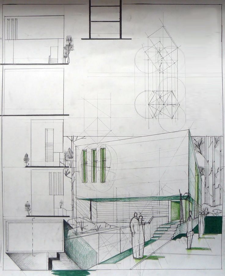 Minimalist House Design Architectural Sketch Dragos Neatu