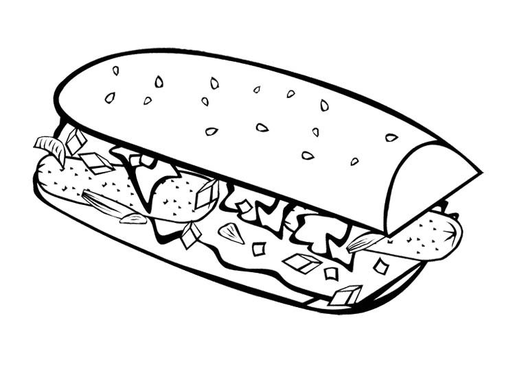 Fast Food Breakfast Coloring Page For Kids | Kids Coloring Pages ...