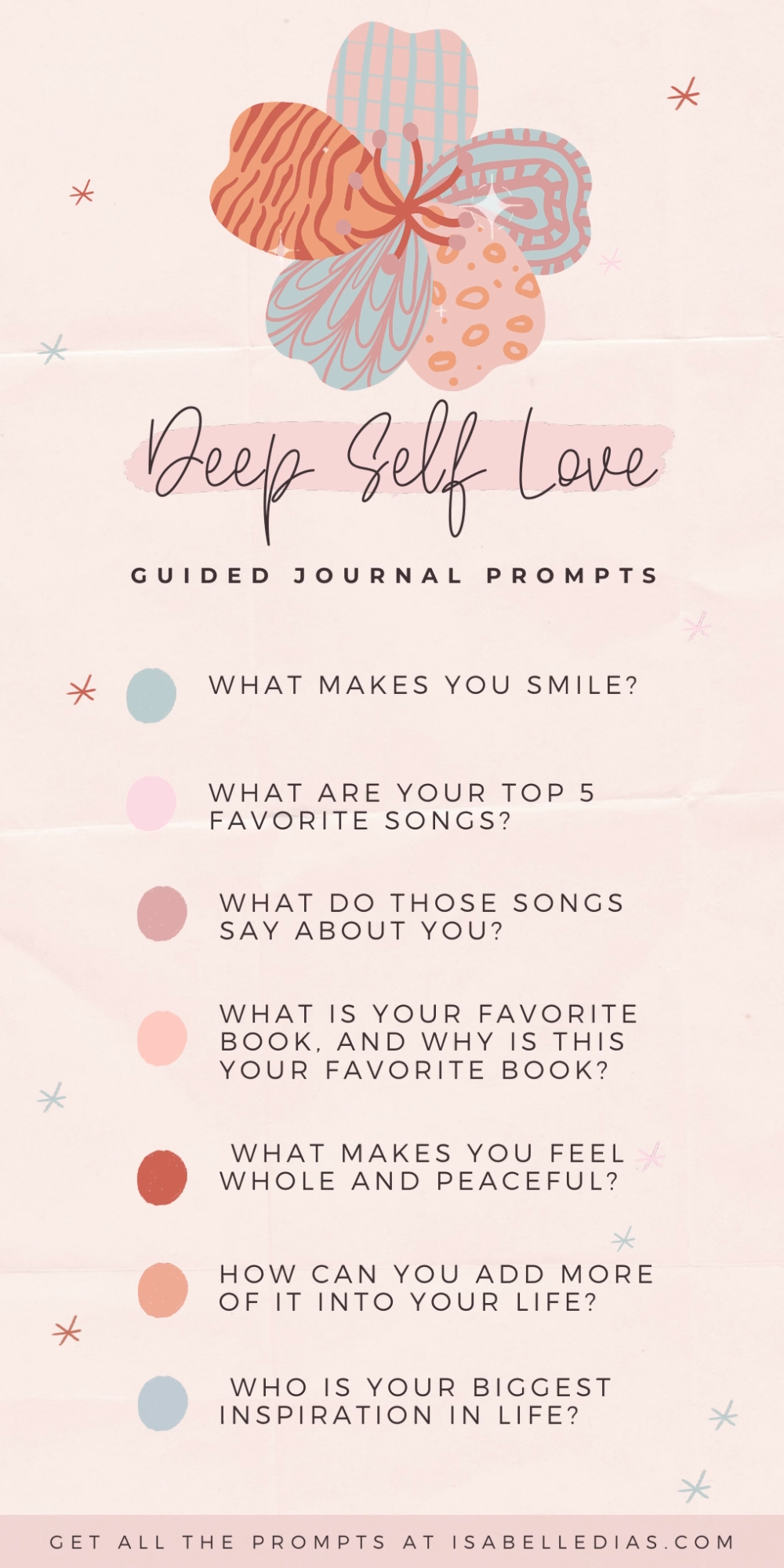 Self Love Journal Prompts For Self Esteem & Shadow Work