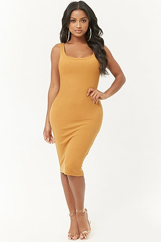 79fd9212125 Ribbed Bodycon Dress