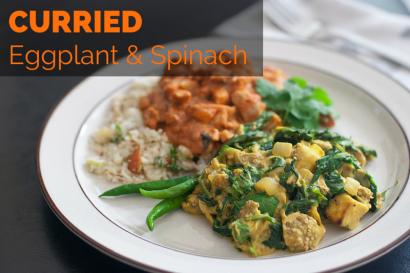 Curried Eggplant and Spinach - The Primal Desire