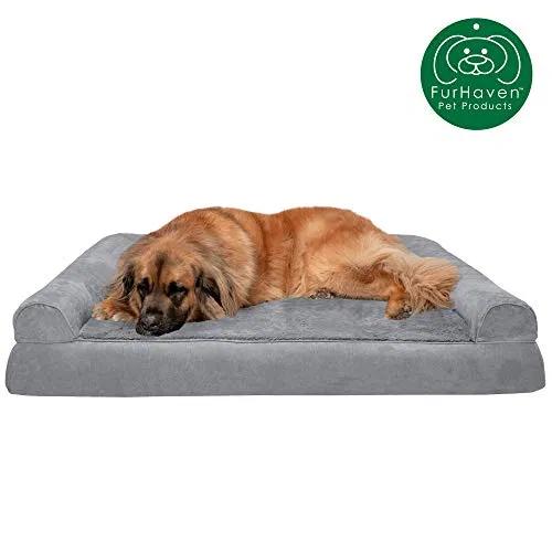 Furhaven Pet Dog Bed Orthopedic Ultra Plush Faux Fur Suede Traditional Sofa Best Petsep Com Dog Pet Beds Dog Sofa Bed Orthopedic Dog Bed