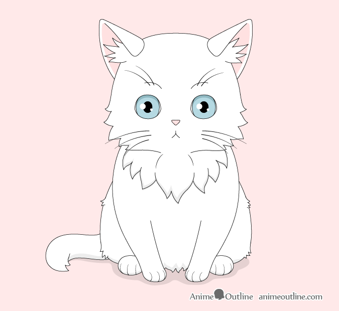 How To Draw An Anime Cat Step By Step Animeoutline Anime Cat Cat Steps Cat Drawing
