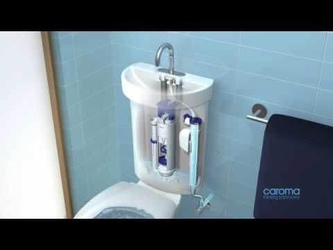 The Ultimate In Water Saving Ideas, The Caroma Profile Toilet With  Integrated Hand Basin