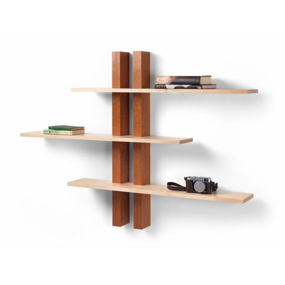 Items Similar To Wall Shelves Cherry And Maple Handmade In The Uk On Etsy