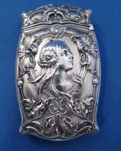 Sterling Nouveau Woman Match Safe Matchsafe Vesta C-1900