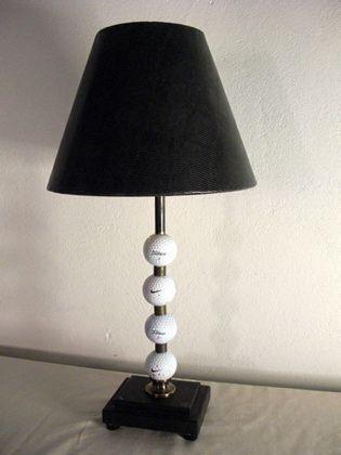 Nice Golf Ball Table Lamp From Reclaimed Lighting
