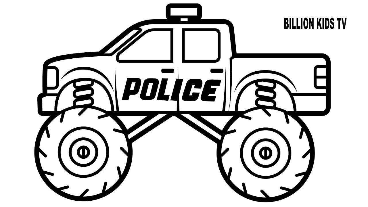 Coloring Page Free Printable Monster Truck  Monster truck