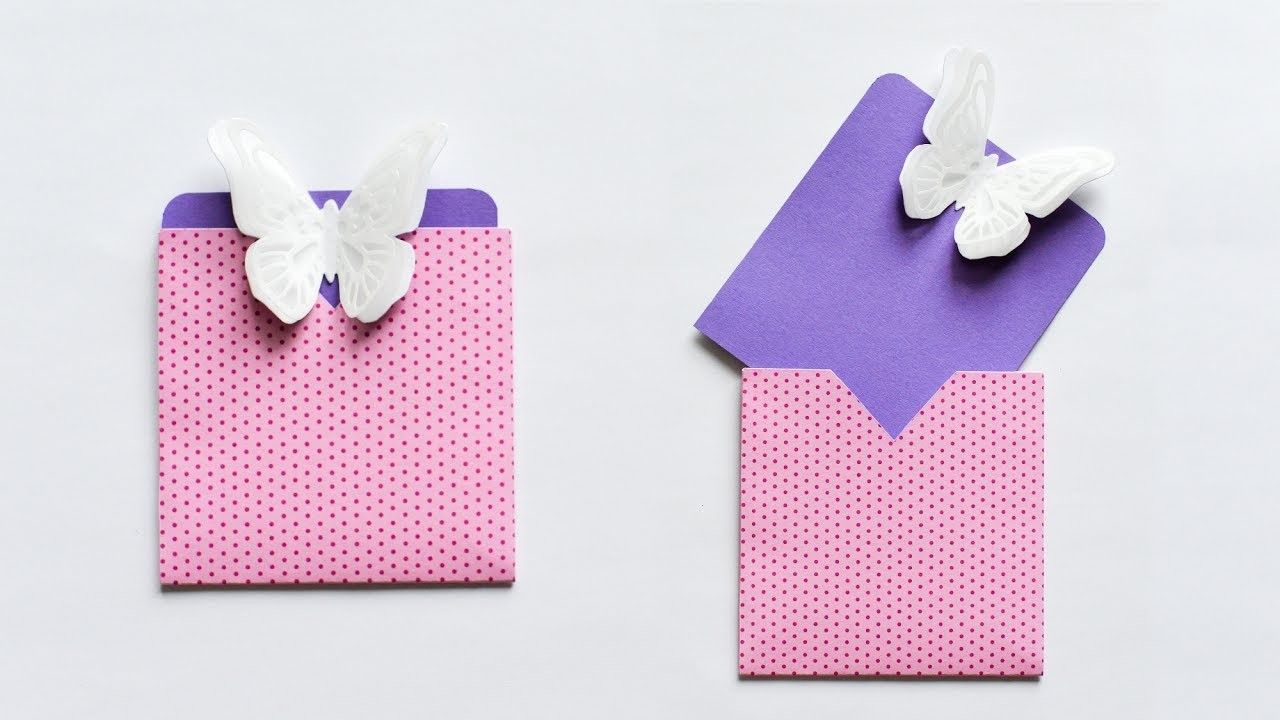 How to make : Easy Card with Butterfly Envelope | Easy cards ...