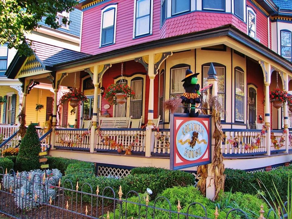 porch of a Bed & Breakfast, Columbia House in Cape May, NJ