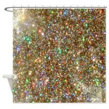 Glitter Gold Sparkle Shower Curtain Gold Sparkle Shower Curtain
