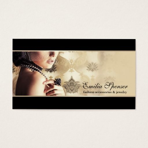 Fashion Accessories Jewelry Business Card Zazzle Com Jewelry Business Card Fashion Business Cards Fashion Accessories Jewelry