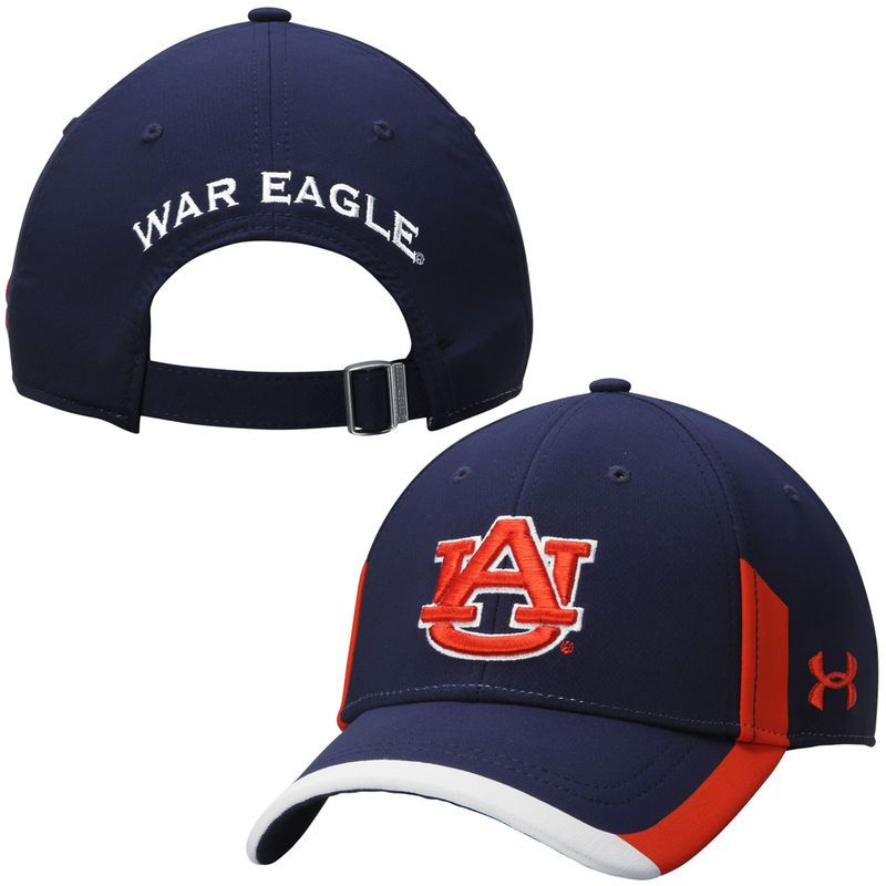 Auburn Tigers Under Armour Sideline Renegade Performance Adjustable Hat - Navy Blue
