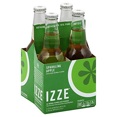 Izze Juice Beverage Blend, Sparkling Apple, 12 Ounce (24