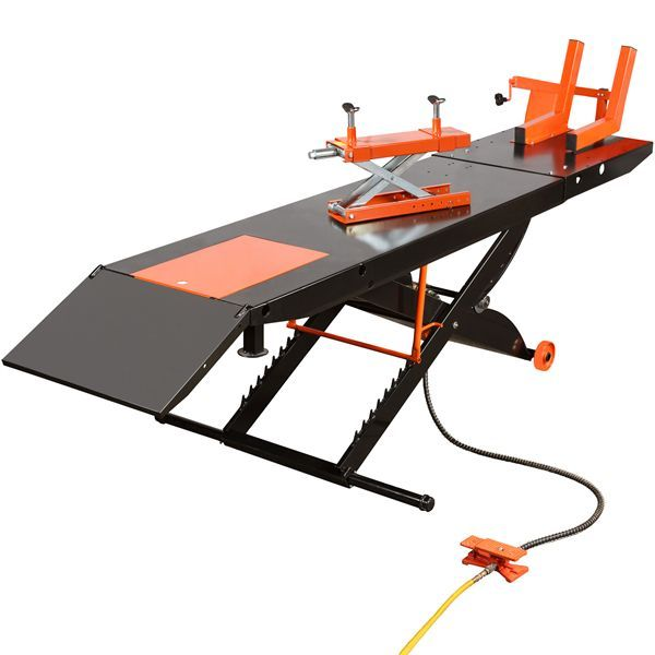 Air Motorcycle Lift Table : Black widow prolift heavy duty air hydraulic motorcycle