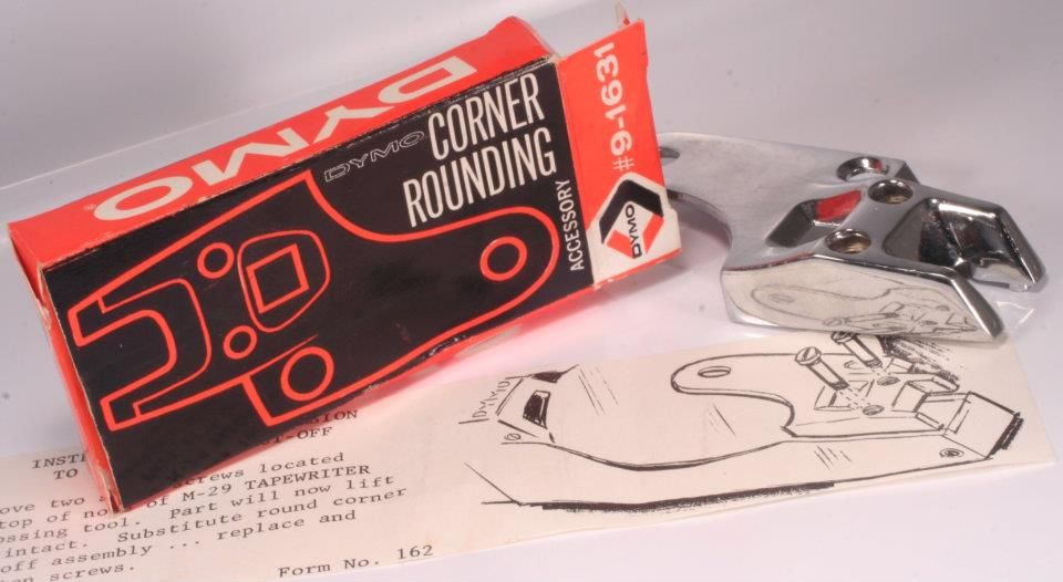 Corner Rounding DYMO, perfect for corners.