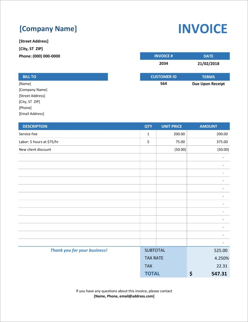 32 Free Invoice Templates In Microsoft Excel And Docx Formats Invoice Template Word Invoice Template Invoice Format