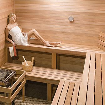 HOME SAUNA KIT   HAS 4 BENCHES ON BENCH SUPPORT FRAMES