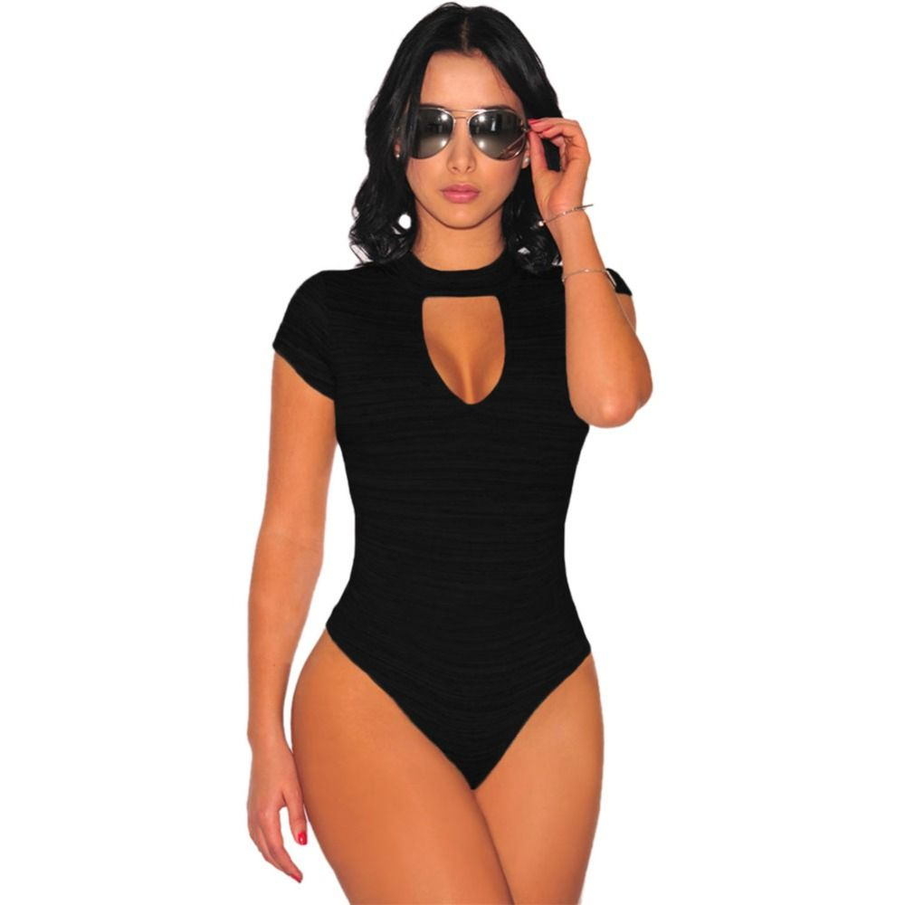 e3b75f6011 FGirl Bodysuits Women Romper Peep Hole Choker Bodysuit Sexy Lace Women  Bodysuit Top FG10683
