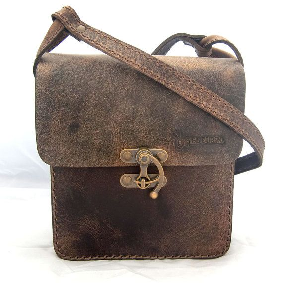 EL BURRO rustico leather bag shoulder bag by ELBURROkreativ