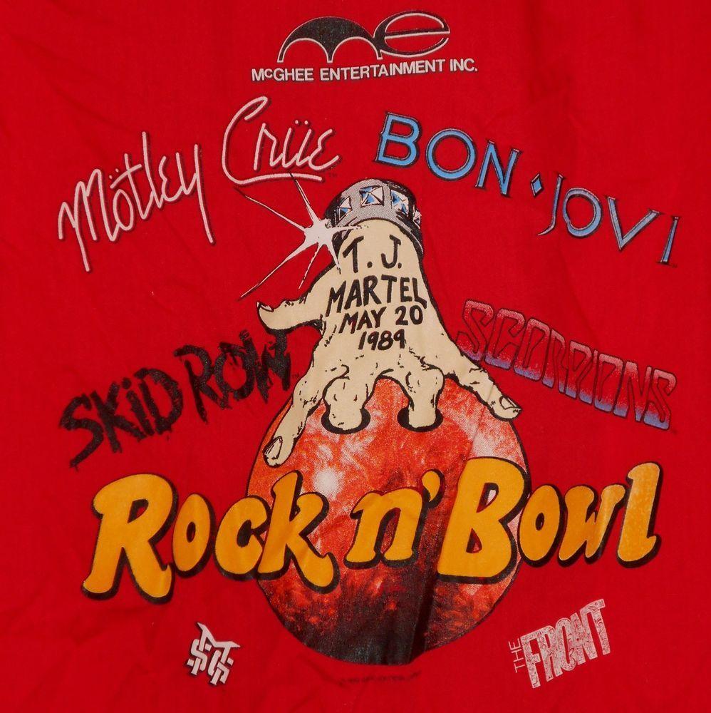 Vtg 1989 Skid Row Motley Crue Bon Jovi Scorpions Rock Concert Tour Shirt L 0shp Tour Shirt Rock Concert Motley Crue