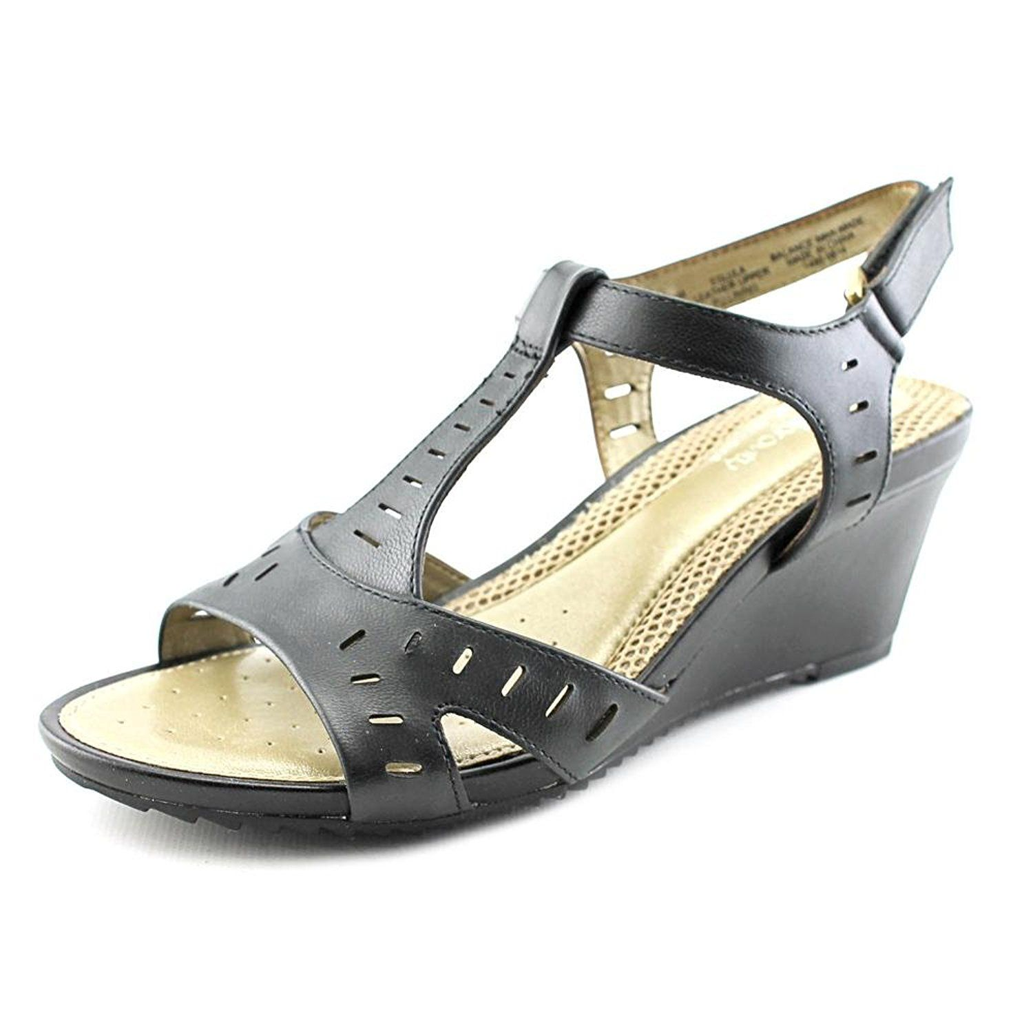 Easy Spirit Women's Lula T-Strap Wedge Sandals *** Additional details at the pin image, click it  : Platform sandals