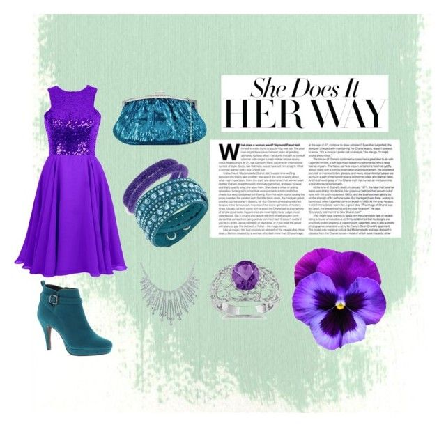 """""""Purple and Teal"""" by lucysefco on Polyvore featuring Julia Cocco', Beacon, Bling Jewelry, Swarovski and Ice"""