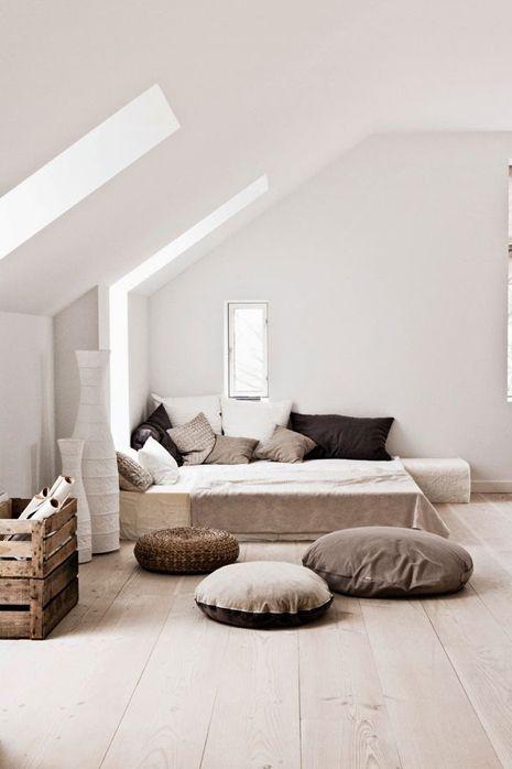 slaapkamer inspiratie schuin dak - Wooninspiratie Roobol | nesting ...