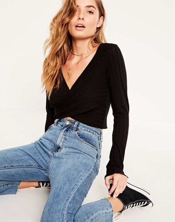 Image result for crossover long sleeve top glassons ...