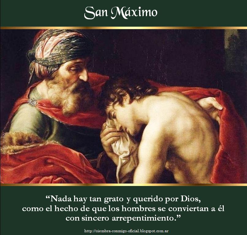 Conversion San Maximo Confianza En Dios San Elias Nombres De Jesus