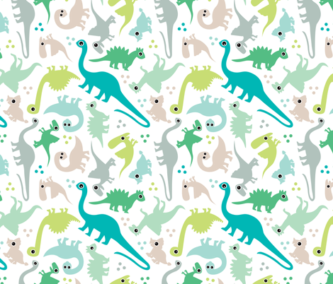 7f93bf96da Cute baby boy pastel dinosaur fantasy series fabric by littlesmilemakers on  Spoonflower - custom fabric