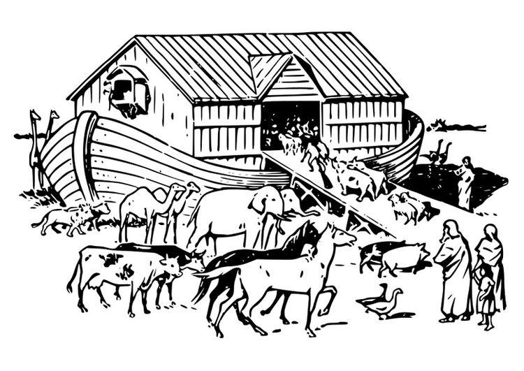 Dibujo para colorear arca de Noé | tattoo | Pinterest | Arca de noé ...