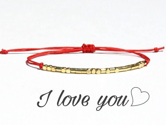 I Love You Bracelet Morse Code Bracelet I Love You Morse Code Morse Code Bracelet Love Bracelets Jewelry Diy Bracelets